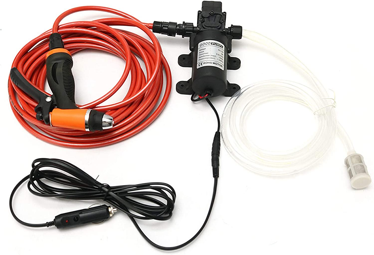 AMZFDC Car Wash Max 67% OFF Pump Cheap mail order specialty store 12V Qu Portable High Self-Priming Pressure