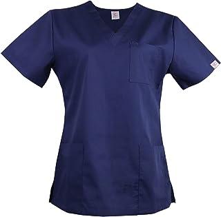 JONATHAN UNIFORM Women Basic V Neck Tunic Top with 3 Pockets for Spa, Beauty, Massage, Salon, Vet