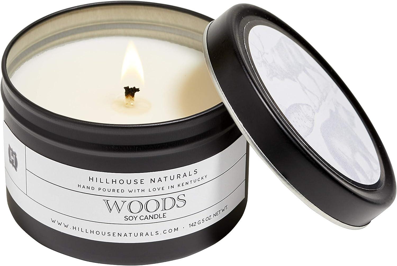 Hillhouse Naturals Woods Candle Ultra-Cheap Deals Ounce Nashville-Davidson Mall 5 Tin