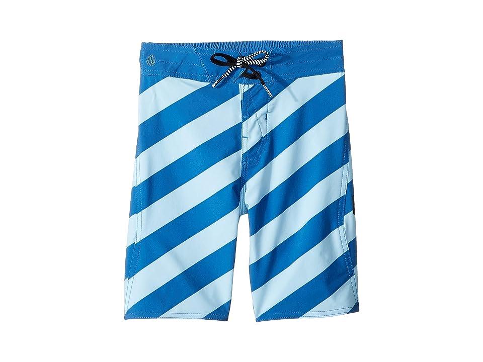 Volcom Kids Stripey Elastic Boardshorts (Little Kids/Big Kids) (Arctic Blue) Boy