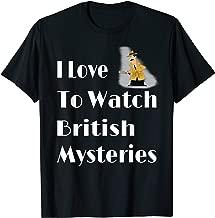 I Love British Mysteries Movie T-Shirt Gift For Men Women