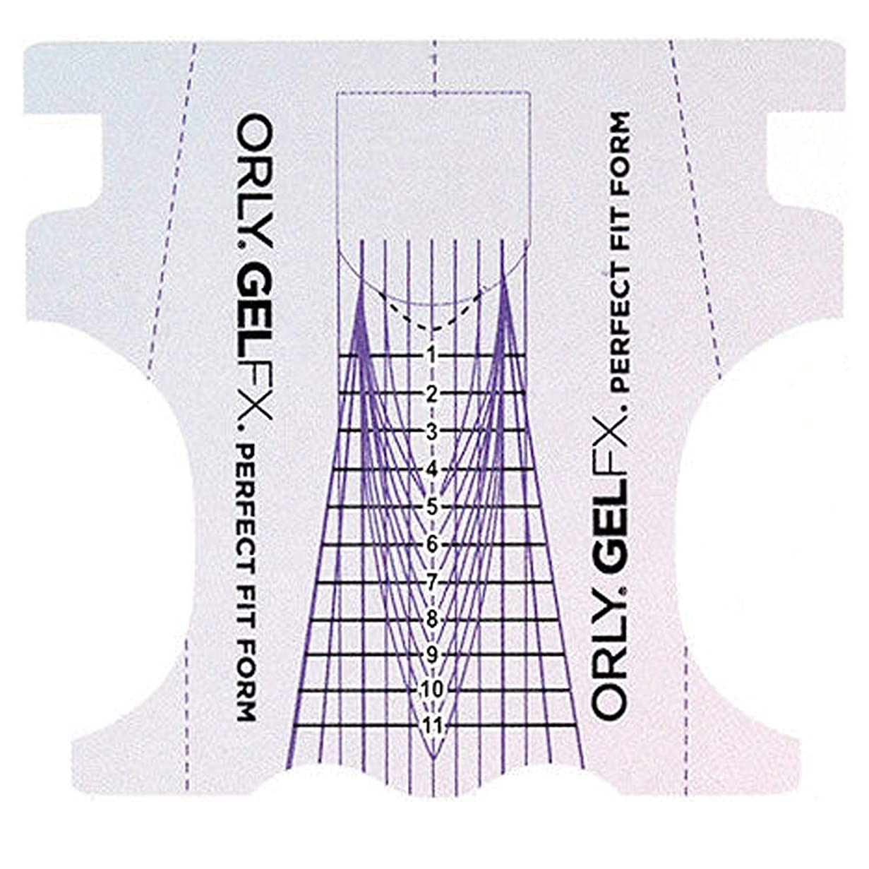 小麦故意に犯すOrly Gel FX - Perfect Fit Forms - 22 count