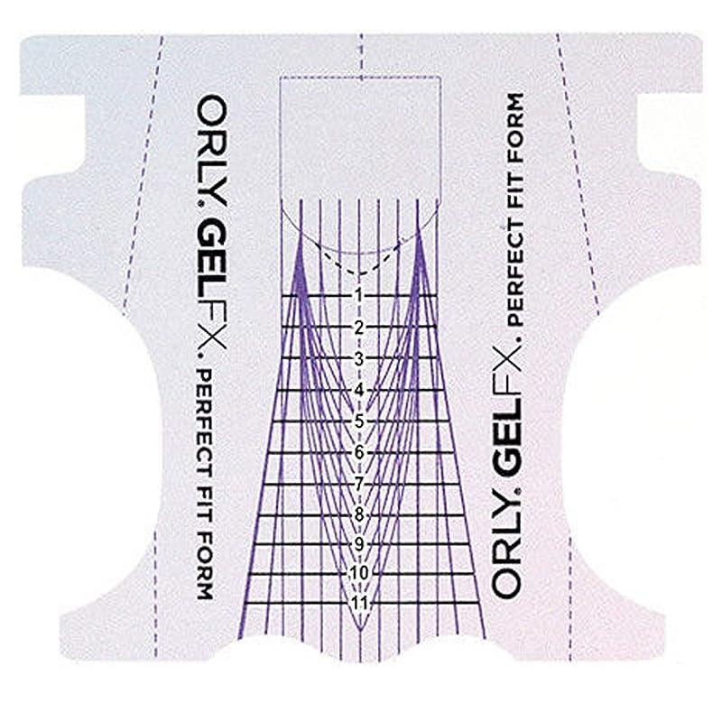 ピアノアドバイス冷酷なOrly Gel FX - Perfect Fit Forms - 22 count
