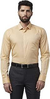 Park Avenue Solid Cotton Medium Yellow Slim Fit Cutaway Collar Full Sleeve Shirt