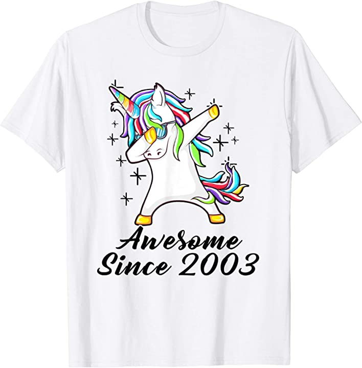 Unicorn Dabbing Awesome Since 2003 16th Yrs Birthday Gifts