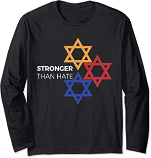 Pittsburgh stronger than hate three star of David shirt