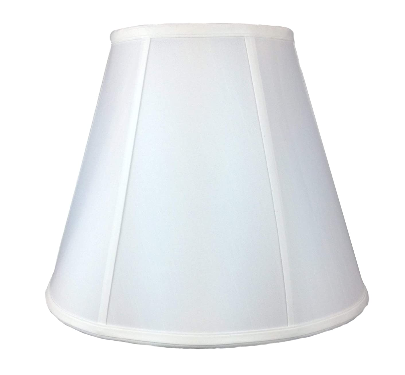 8x16x12 Hardback Box Pleat Lampshade White Shantung with Brass Spider fitter By Home Concept - Perfect for table lamps and some desk lamps -Medium, White