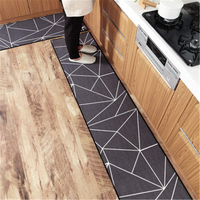 Plaids Mat in The Hall Slip-Resistant Pad Room Carpet Floor Mats Kitchen Bathroom Door Mat Alfombra Cocina Deurmat Extended Size 4 50x120cm