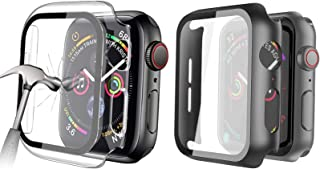 HEYUS [2 Pack] Tempered Glass Screen Case 40mm for Apple Watch Series 6/SE/5/4 , Full Coverage Tempered Glass Screen Prote...