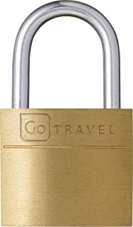 Go-Travel 20mm 2 Piece Set Luggage Lock, Brass, 171