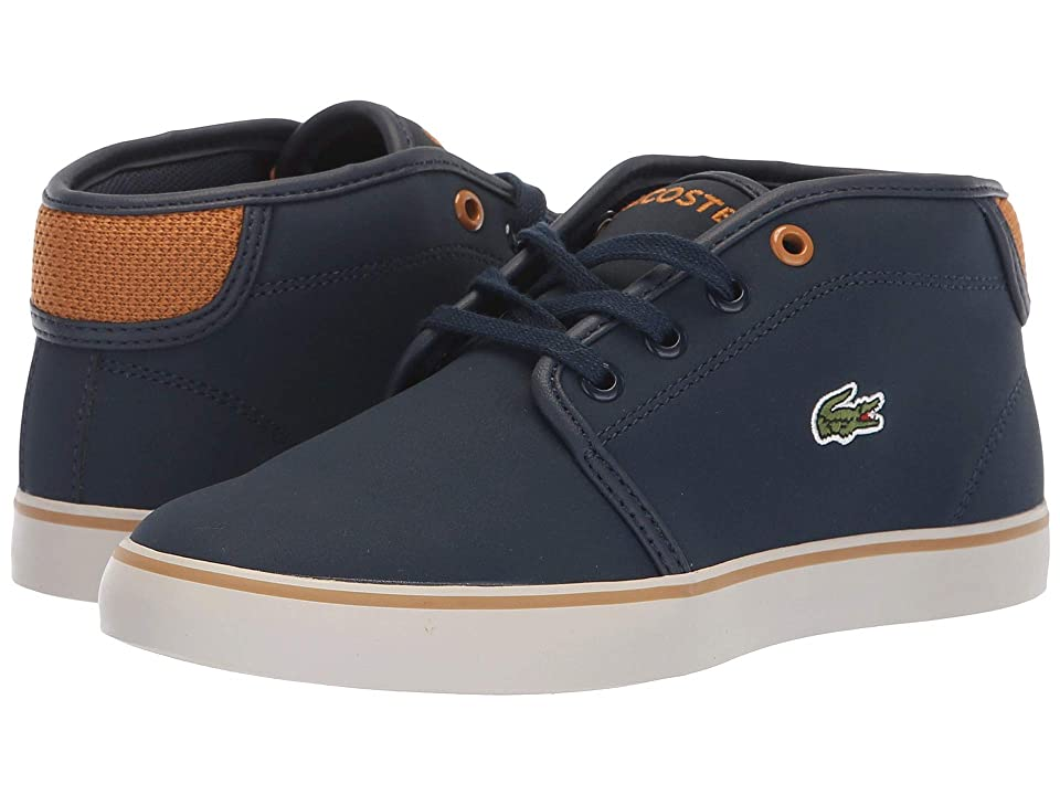 Lacoste Kids Ampthill 318 (Little Kid) (Navy/Dark Tan) Kid