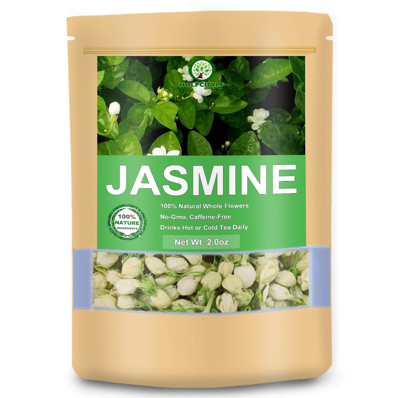Natural Jasmine Flower Tea, 100% Dried Premium Jasmine Buds Herb Tea (Jasmine Flower, 2.0 oz)