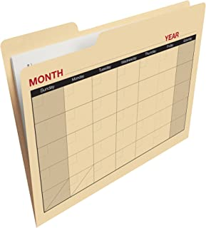 Find-It Calendar File Folders, 12 Pack, Manila (FT07465)