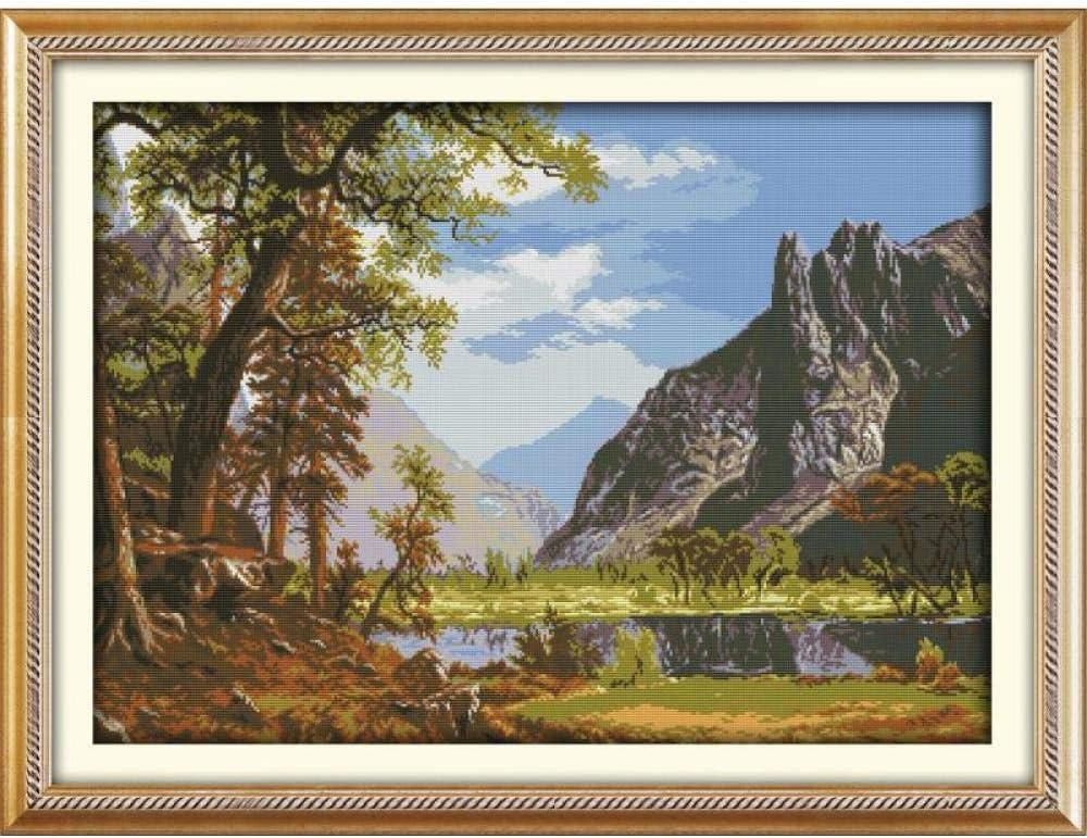 Cross Stitch Selling Free shipping Kits Beginner Nature Preprinted Pattern Landscape C