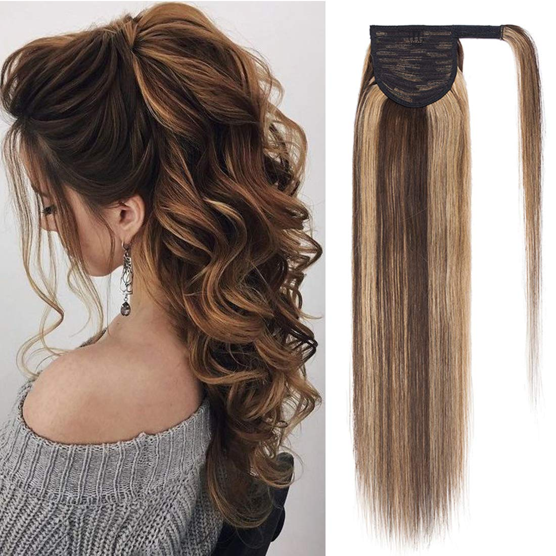 S-noilite Ponytail 70% OFF Complete Free Shipping Outlet Extension Human Hai Around Wrap Hair