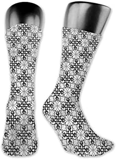 Running Fitness CrossFit S~XXL Floral,Victorian Damask Rococo,socks with grips for women and wings