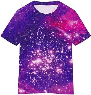 SAYM Girls Youth Kids Universe Moisture Wicking T-Shirt Tee 4-16 Years
