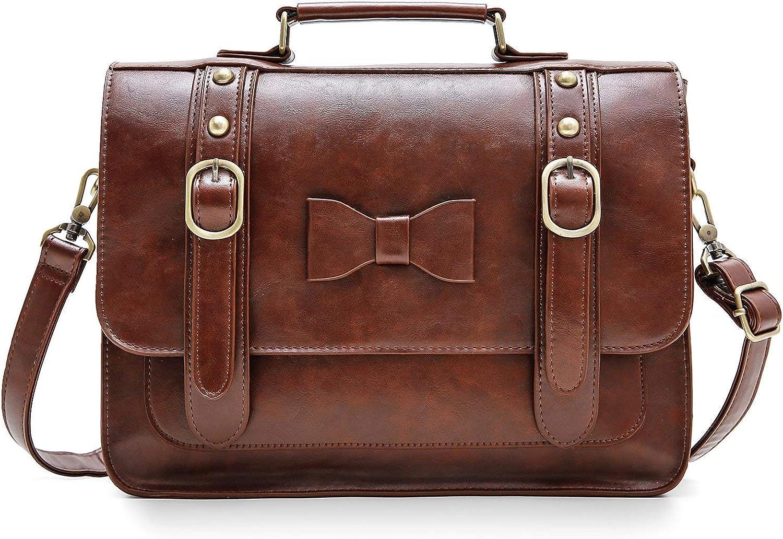 ECOSUSI Women Vintage Faux Leather Sales for online shop sale Satchel Shoulder We Messenger