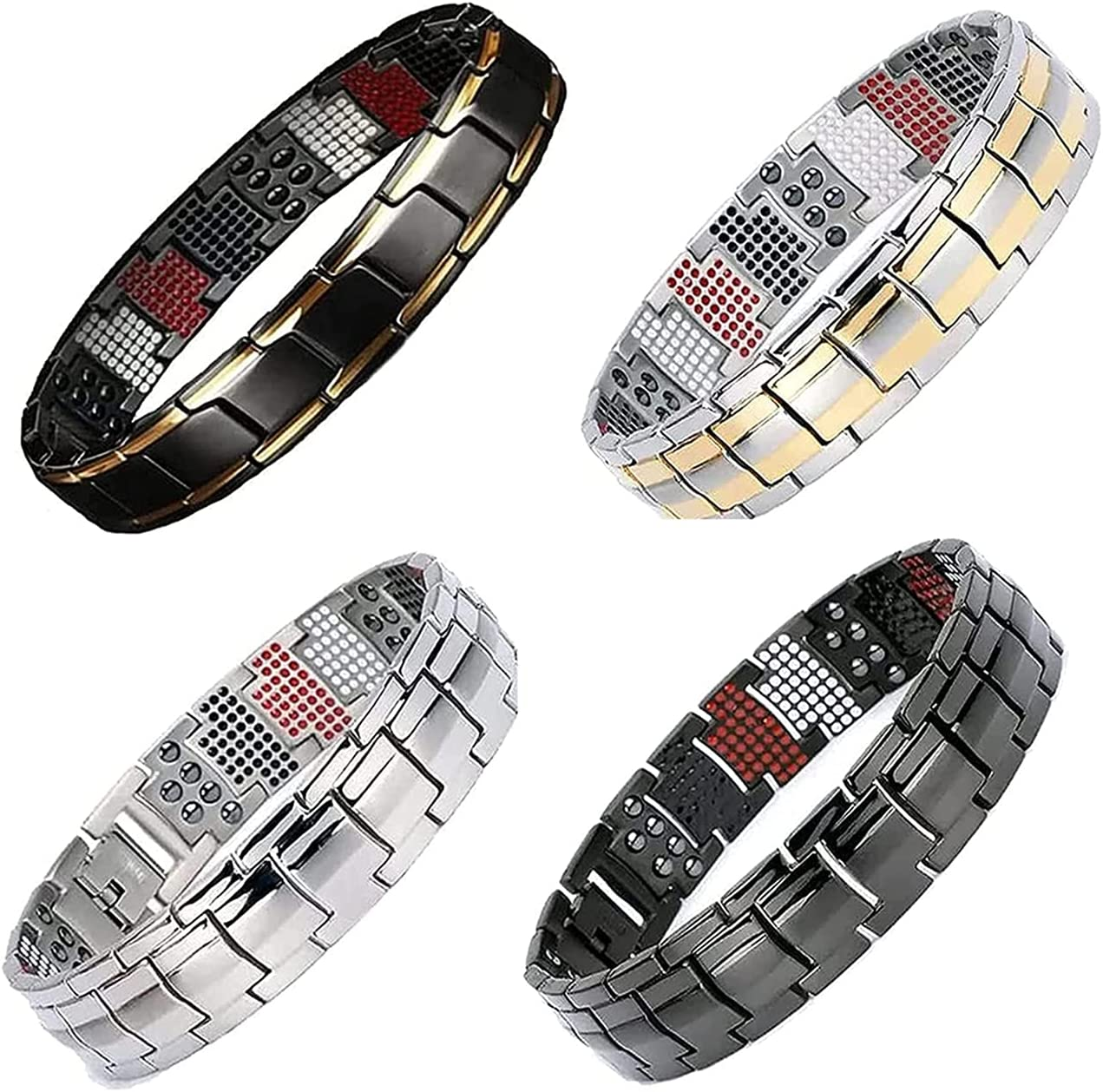 XIHUANA Baltimore Inventory cleanup selling sale Mall Magnetic Therapy Fit Plus Magnet T Wide Bracelet Double