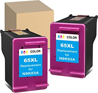ATOPolyjet Remanufactured 65XL Ink Cartridge Replacement for HP 65 XL Used for HP Envy 5055 5000 5052 5014 DeskJet 3755 26...
