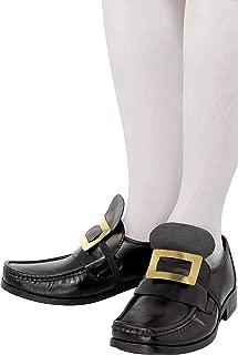 Smiffy's Tales of Old England - Coppia di fibbia in metallo con cinghia elastica per le scarpe, Oro