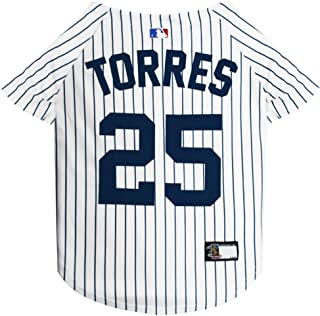 Pets First MLBPA Jersey for Dogs & Cats - Gleyber Torres #25 Pet Jersey - MLB New York Yankees Mesh Jersey, Small