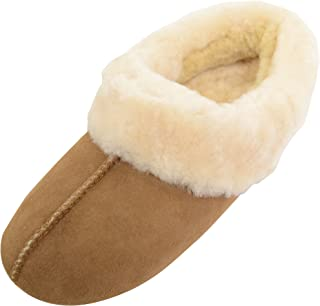 SNUGRUGS Womens Luxury Genuine 100% Full Sheepskin Slipper with Soft Sole