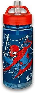 Scooli SPMA9913 - Borraccia Aero Marvel Spider-Man, con cannuccia integrata e beccuccio, senza BPA e ftalati, capacità ca....