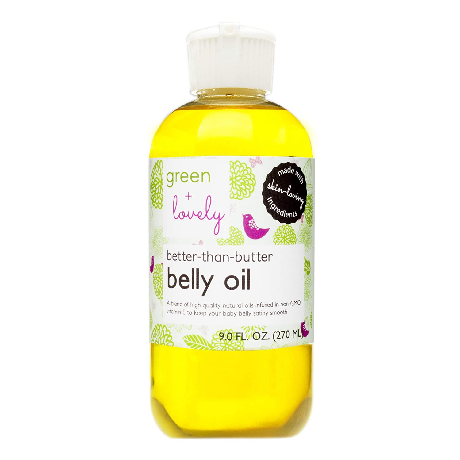 Better than Butter Belly Oil(Unscented) | Pregnancy Stretch Mark Prevention | 9 fl oz. Lasts for up to 6 Months | Natural Oil and Vitamin E Enriched for Amazing Skin Pre/Post Pregnancy