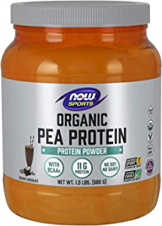 Now Foods Sports, Organic Pea Protein, Natural Chocolate, 680g