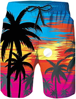 N \ A 3D Graphic Print Mens Swim Trunks Beach Board Shorts Quick-Dry Bathing Suit Mesh Liner Swimwear with Pockets