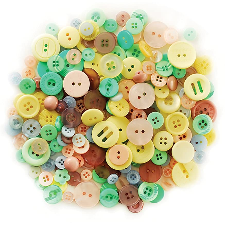 Multicraft Imports Fashion Buttons, 85gm, Pastels