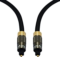 IBRA 15Ft Muzil Gold - Digital Optical Audio Toslink Cable 15Feet (5 Meter)