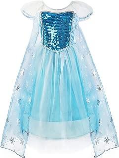 Little Girls Princess Dress Snow Party Queen Halloween Costume