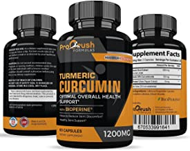 Turmeric Curcumin Supplement Maximum Strength - Anti-Inflammatory & Joint Pain Relief. Enhanced with Black Pepper for Bett...