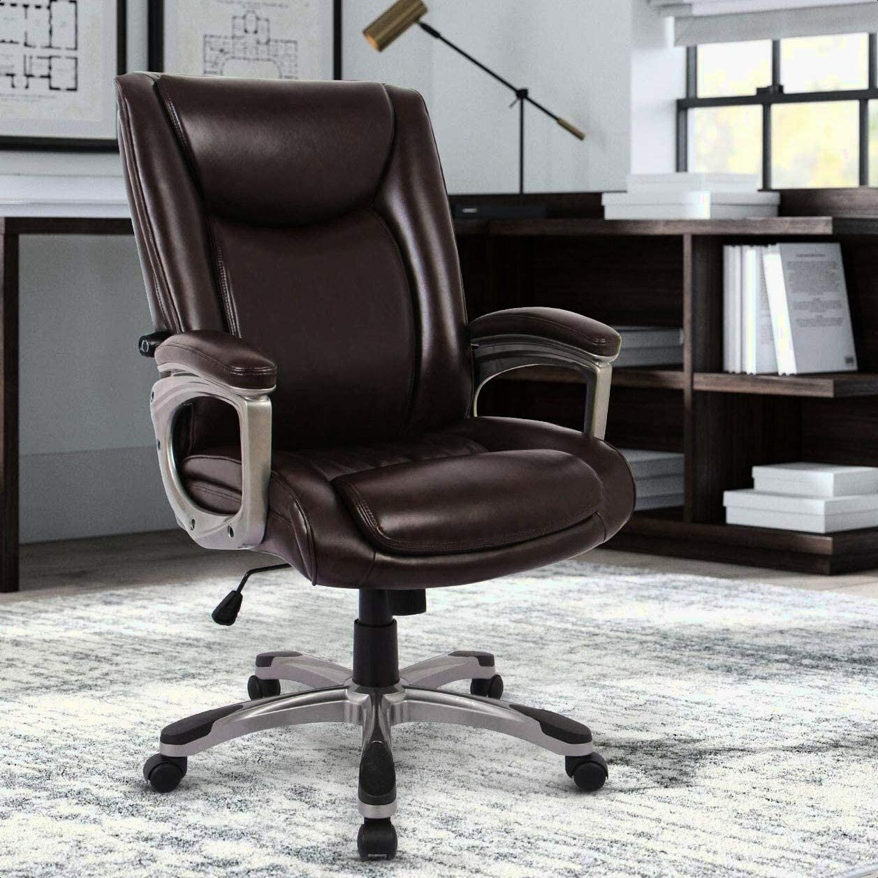 Office Ergonomic Faux Max All items free shipping 51% OFF Fur Executive Chair Tilt Ba Center