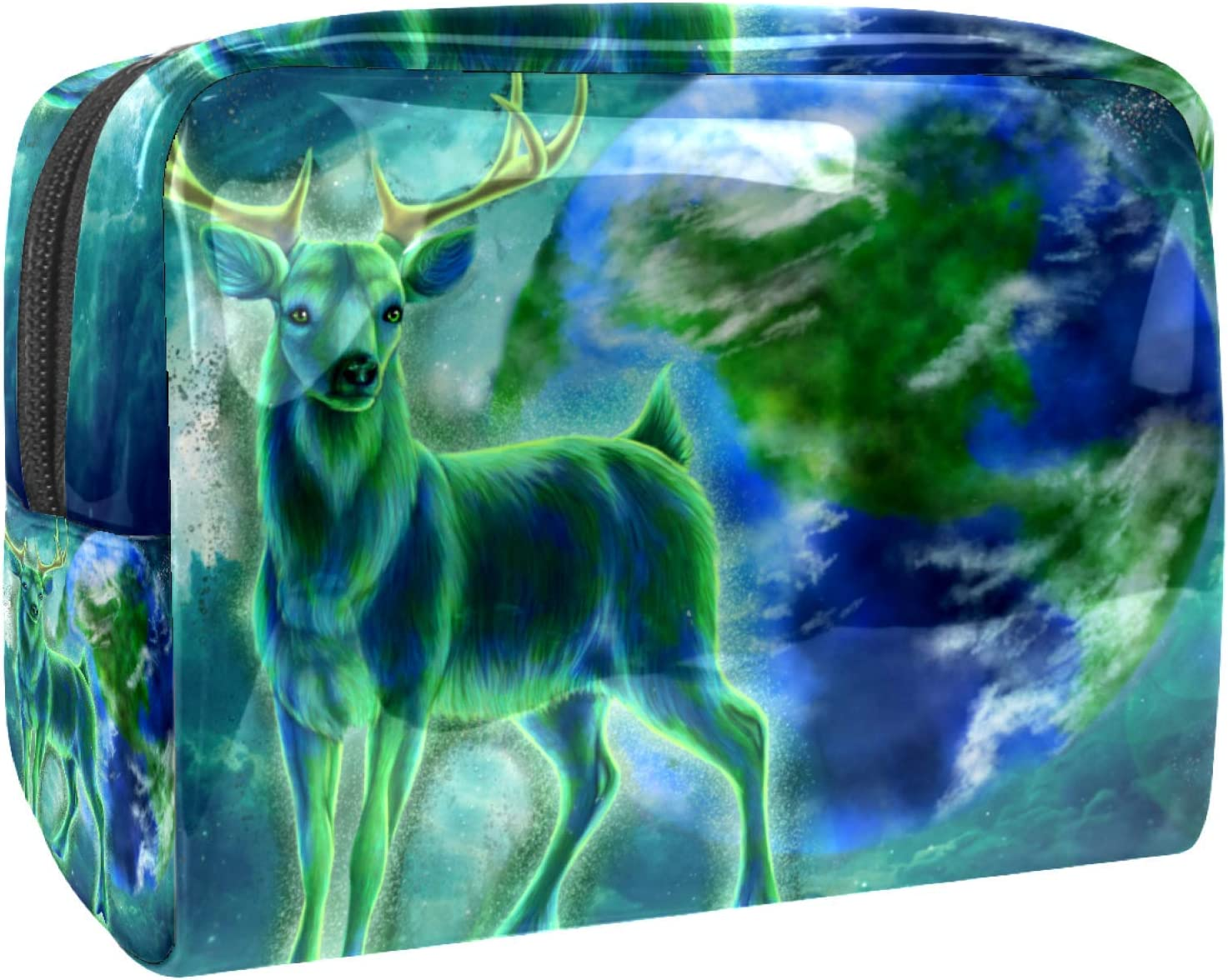 Cosmetic Bag for Women Roomy Makeup Earth and Bags deer favorite green Tr Special sale item