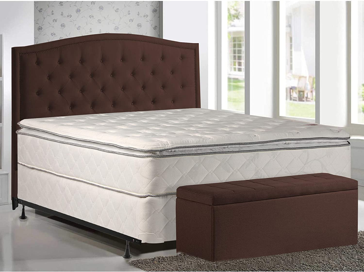 10-Inch Pillowtop Innerspring Ranking TOP3 Mattress and Fo Spring Wood Sale item 8