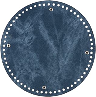 Prettyia DIY Bags Jean Pad Bottom Base 21x0.4cm Shaper Bag Cushion with 62 Holes Blue
