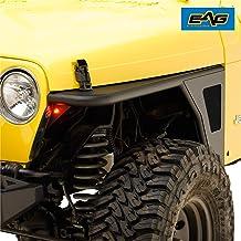 EAG Front Fender Flare Rocker Guard Tubular with Eagle Light Fit for 97-06 Jeep Wrangler TJ