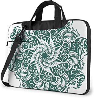 """Paisley Floral Laptop Bag Protective Case Computer Messenger Briefcase Women Men 13"""""""