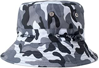 Zodaca Bucket Hat, Outdoor Sun Protective Reversible Camouflage Foldable Lightweight Sun Hat for Fishing/Hiking/Camping