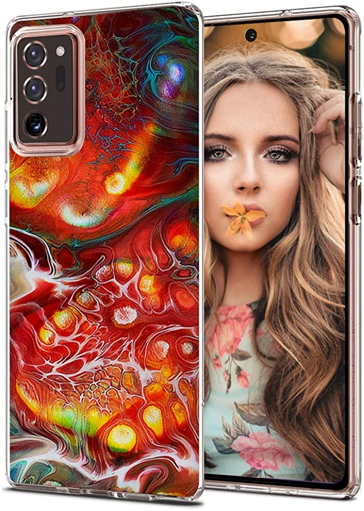 Compaible-with-Samsung-Galaxy-Note 20-Ultra-Case,Cute-Marble-Clear-TPU-Back-Cover-Phone-Cases,Soft-Flexible-Samsung-Note 20-Ultra-Case-Durable-[Ultra-Thin],for-Samsung-Galaxy-Note 20-Ultra-6.9-Inch