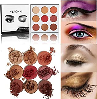 Delighted 9 Colors Eye Shadow Palette Matte Shimmer Smokey Eyes Makeup Long-Lasting - #01