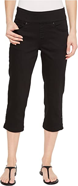 D-Lux Denim Pull-On Capris in Ebony