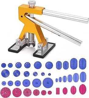 Entweg Kit de ferramentas de reparo de amassados sem tinta, kit de ferramentas de reparo de amassados ajustável, kit de fe...