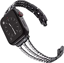 Surace Compatible for Apple Watch Bands 38mm 40mm Women Bracelet Replacement for iWatch Bands 38mm Womens Compatible for Apple Watch Band 40mm Series 4 Series 5 Black