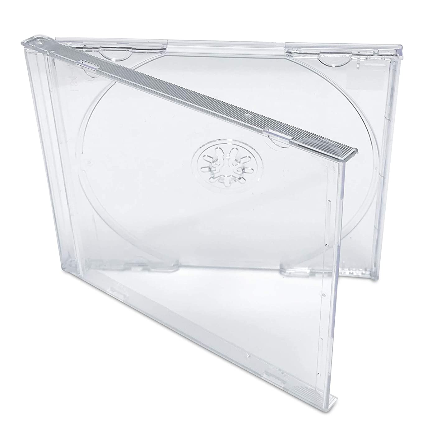 KEYIN Standard Clear CD Jewel Case - Premium, 50 Pack