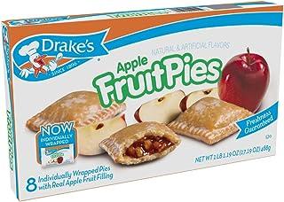 Drake's Apple Fruit Pies, 8 Apple Pies Per Box, 17.16 Ounces (4-pack)