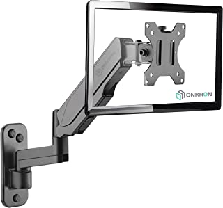 """ONKRON TV Monitor Wall Mount Bracket for 13"""" – 32-Inch Screens Full Motion with Gas Spring Black G150"""
